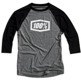 100% Essential Tech T-shirt met 3/4 mouwen Heren, grey/black